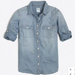 "J. Crew ""The Perfect Shirt"" Chambray Shirt"